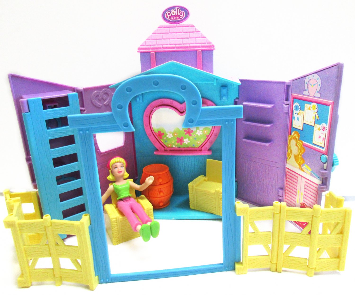 Polly Pocket Horse Barn Stable Farm Corral House Play Set