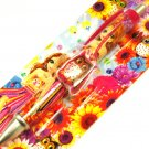 Lisa Frank Owl & Sunflower Daisy Bunny Rabbit Girl Dangle Charm Retractable Ball Point Ink Pen