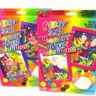 2 Lisa Frank Fairy & Rainbow Popcorn Glitter By Number Framed Art Craft Kits Puppy Dog Kitten Cat