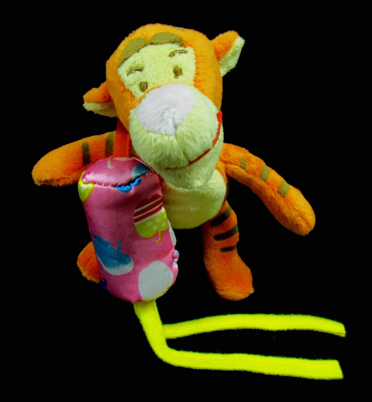 Disney Baby Pooh Bear Pals Tigger Plush Toy Hanging Crib Rattle Cuddle Buddy