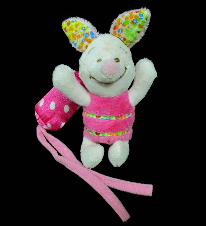 Disney Baby Pooh Bear Pals Piglet Plush Toy Hanging Crib Rattle Cuddle Buddy