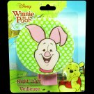 Disney Piglet Winnie The Pooh Bear Night Light Plug In Nite Lite Kids Baby Nursery Decor