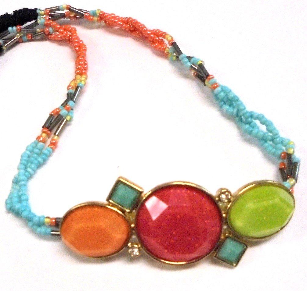 Rainbow Beaded Glitter Crystals Braided Jewels Headband Hair Accessory Head Band