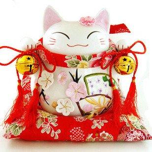 A0026 - Japanese Lucky Cat Genuine  Piggy Bank/ Gift