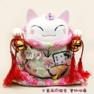 A0032 -Japan Genuine Lok Tong Tai bloom Lucky Cat (PINK)