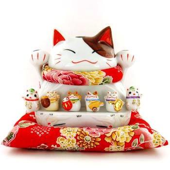 A0040-Japan Genuine Lok Tong family portrait Lucky Cat Piggy Bank