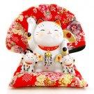 A0055 - Japan's Genuine kiln Pharmacist Jin Shan Fu Cat Lucky Cat