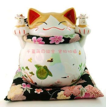 A0068 - Japanese Lucky Cat genuine hands of the Lok Tong