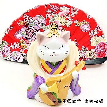 A0080 - Genuine Japanese Lucky Cat Hall of the Lok Benzaiten