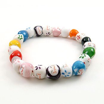 A0102 Japanese Genuine Lok Tong kitten 7 colors candy bracelet