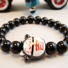 A0120 - Japanese Lucky Cat Genuine Tao Yue Tang Bracelet (Black)