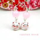 A0170- 100% Good Quality Lucky Cat Earrings (Purple)