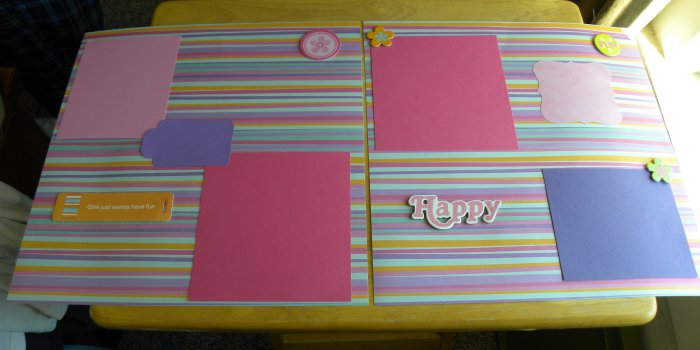 Girls Just Wanna Have Fun 2 12 x 12 Premade Scrapbook Pages