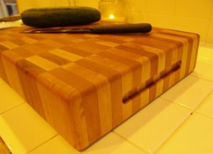 "Creekers Woodworks ""Biggest Boy"" Maple and Cherry End Grain Cutting Board"
