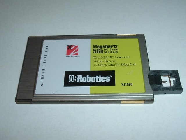 US Robotics 56K modem w Dongle cable pcmcia USR CC1560