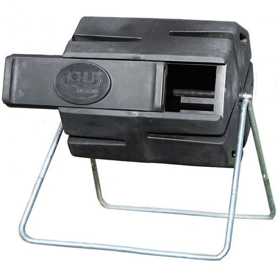 NEW! SPINNING ACHLA HORIZONTAL COMPOSTER  FREE SHIP
