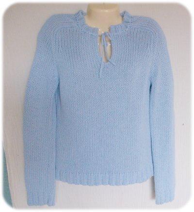 AMERICAN EAGLE LIGHT BLUE  Sweater XL Tie Neck
