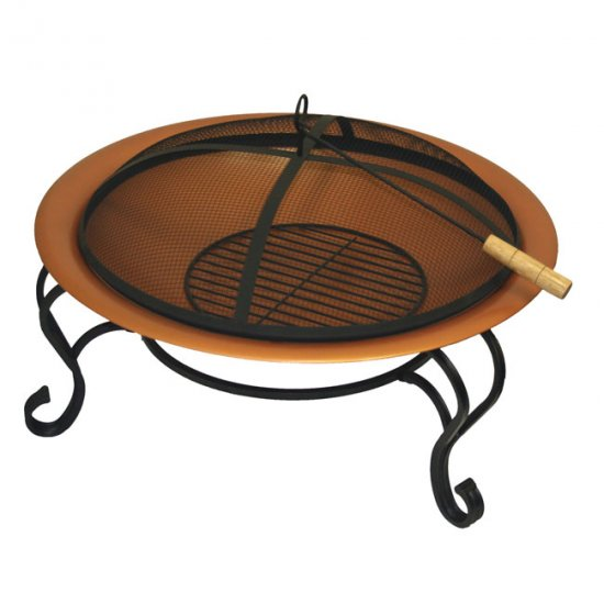 GRIP 30 inch OUTDOOR FIRE PIT - YARD DECOR ENTERTAIN