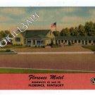 Vtg FLORENCE, KY Florence Motel Postcard Hwys 42 25 F76