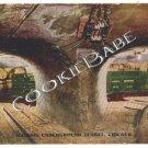 VTG Illinois UNDERGROUND TUNNEL Chicago  Postcard F7