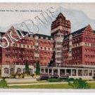 Vtg ST. JOSEPH, MI New Whitcomb Hotel Postcard F 87