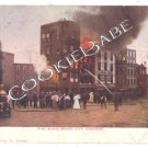 WHITE CITY FIRE CHICAGO Antique Fire Engine Postcard F8