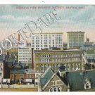 Vtg DAYTON, OH - BIRDS EYE- BUSINESS DISTRICT -  F84