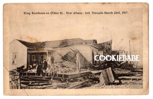 1917 NEW ALBANY, IN TORNADO DISASTER Old POSTCARD L144