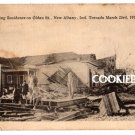 1917 NEW ALBANY, IN TORNADO DISASTER Old POSTCARD L144