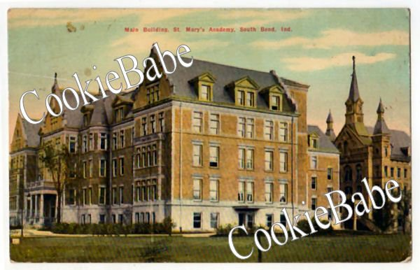 1910 SOUTH BEND IN St. Mary's Academy Vtg Postcard F121