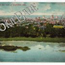 1910 DAYTON, OH - Bird's Eye View City OLD POSTCARD F83