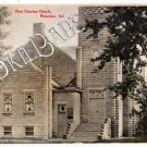 1909 WAKARUSA, IN First Christian Church Vtg Postcard