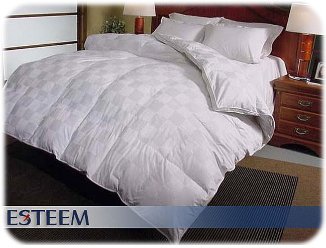 EURO CHECK 1000 TC Hungarian Goose Down Comforter QUEEN