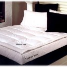 New TWIN SIZE WHITE DOWN FEATHERBED - Mattress Topper