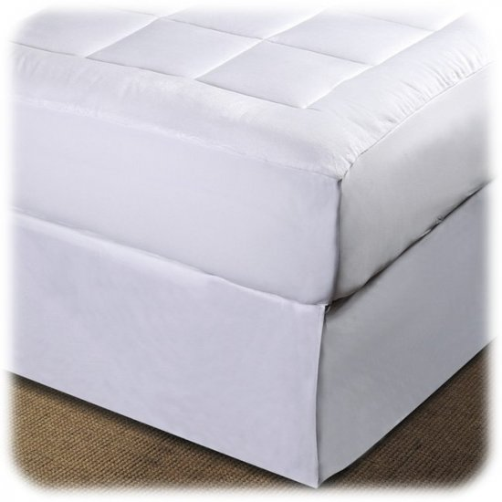 NEW MICROPLUSH PILLOW TOP  MATTRESS PAD ~QUEEN~