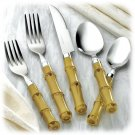NEW! TROPICAL Gibson 40-piece ISLAND BAMBOO Flatware