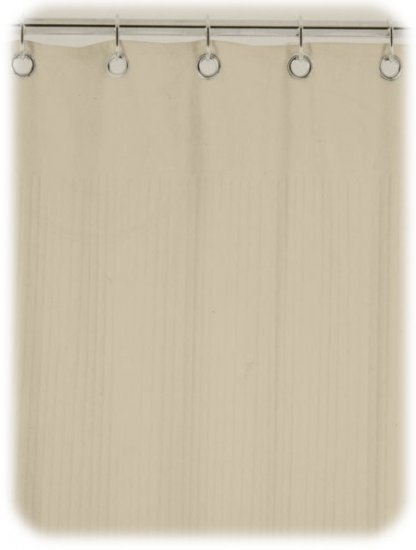NEW! Ribbed TERRY CLOTH Shower Curtain - Warm Sand Tan