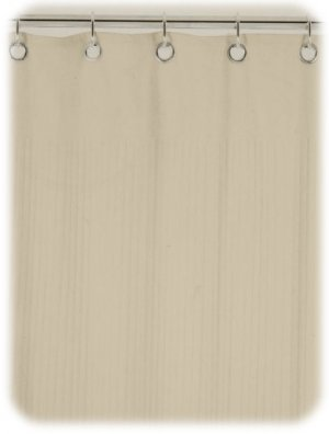 New Ribbed Terry Cloth Shower Curtain Warm Sand Tan