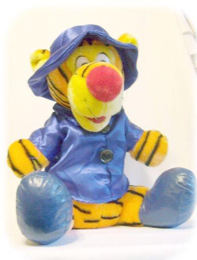 "PLUSH TIGGER Winnie the Pooh Character 15"" Blue Coat"