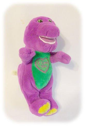 "PLUSH BARNEY 10 1/2"" Singing I LOVE YOU Doll Toy Dino"
