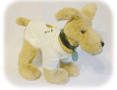"PLUSH GUND ""I MISS YOU"" DOG T-SHIRT Toy Stuffed Puppy"