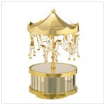 22770 Musical Glass Circus Top Carousel