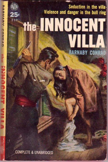 The Innocent Villa, Conrad, Vintage Paperback Book, International Drama, Avon #537