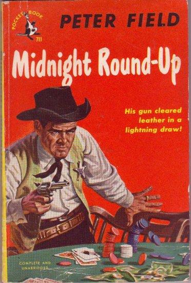Midnight Round-Up, Vintage Paperback, Pocket Book #711, Western