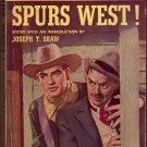 Spurs West, Vintage Paperback, Western, Perma Books #P-126