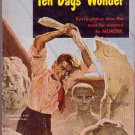 Ten Days' Wonder, Ellery Queen, Vintage Paperback, Mystery, Pocket Book #740