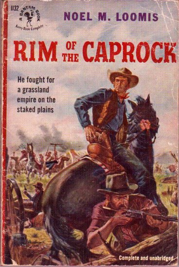 Rim of the Caprock, Loomis, Vintage Paperback Book, Western, Bantam #1132
