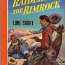 Raiders of the Rimrock, Luke Short, Vintage Paperback Book, Western, Bantam #258