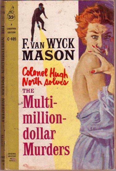 The Multi-Million-Dollar Murders, Mason, Mystery, Vintage Paperback Book, Cardinal #C-405