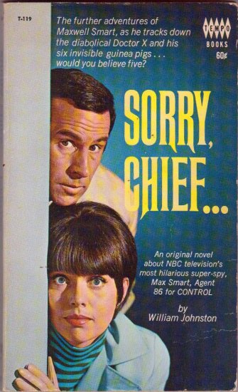 Sorry Chief (Get  Smart), Vintage Paperback Book, TV Tie-In, Don Adams, Feldon, Tempo #T-119